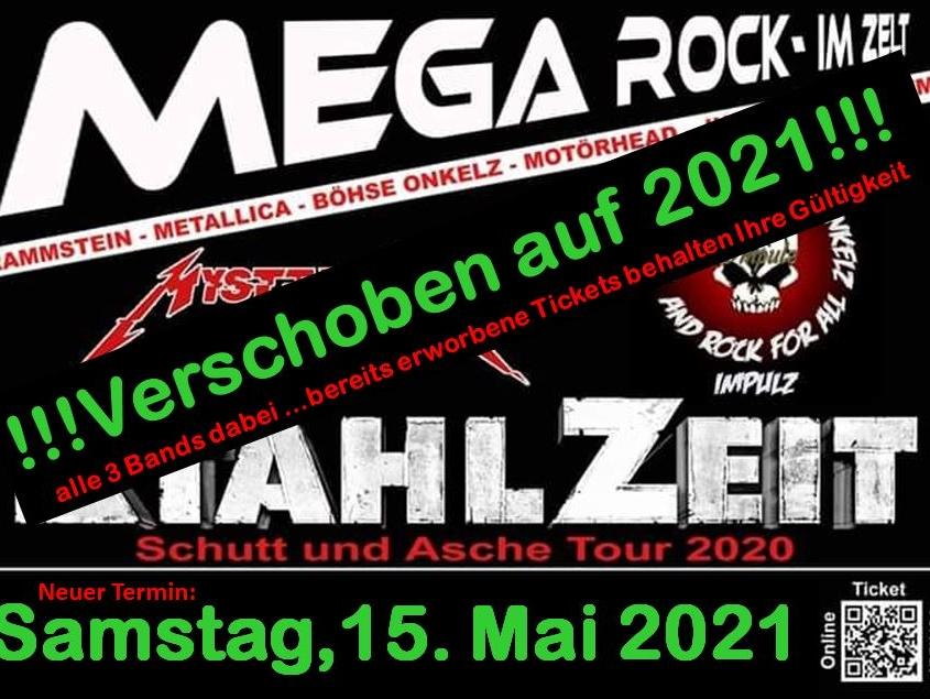 MEGA ROCK im ZELT neuer Termin 14.05.2022